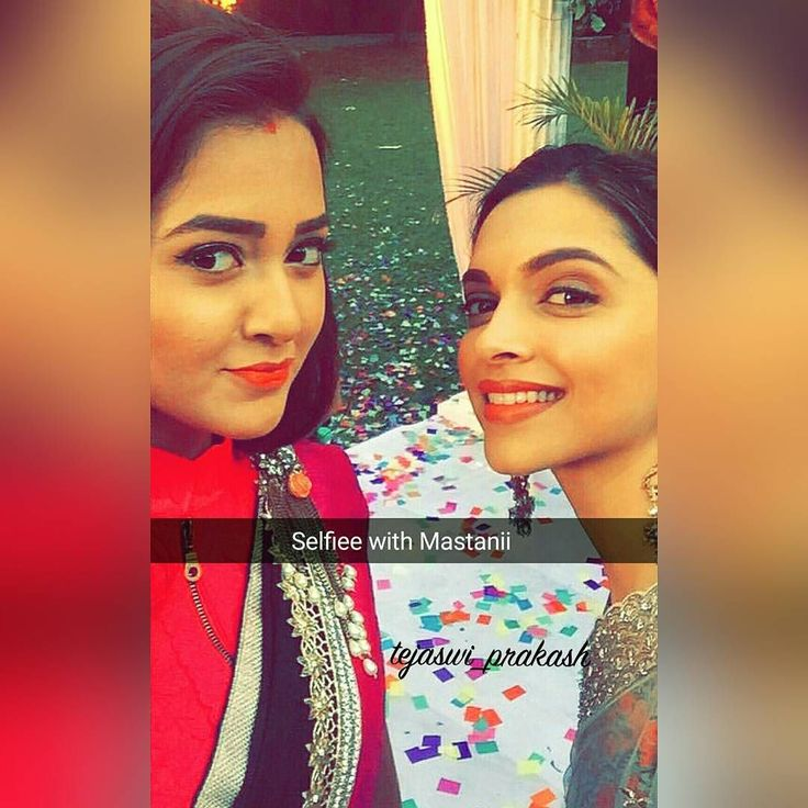 "tejaswi_prakash: ""#Selfieeeewith #Mastani what a wonderful feelingg…"