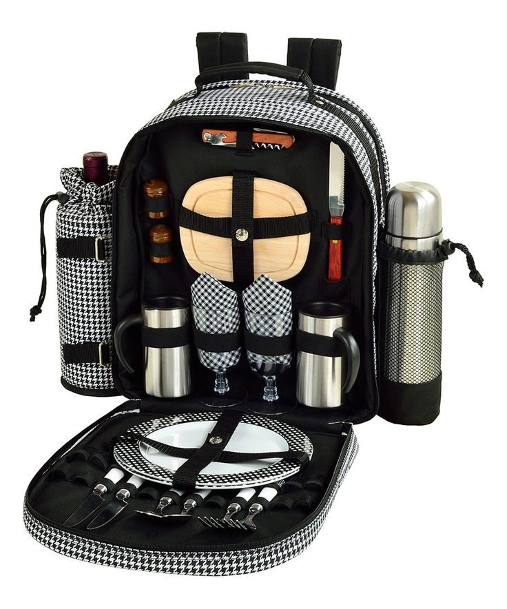 Another great find on #zulily! Gray Two-Person Coffee & Picnic Backpack Set by Picnic at Ascot #zulilyfinds