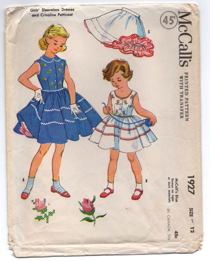 178 besten 6. VINTAGE 1950-1954 McCALLS PATTERNS Bilder auf ...