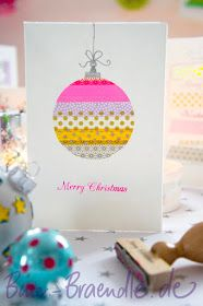 Dekoherz: Bine Braendle colorful world: Christmas Cards with Masking Tape