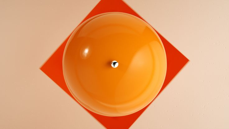 Here it's the Orange version of Panthella MINI from our latest campaign video. Panthella MINI is a smaller version of Verner Panton's classic Panthella lamp from 1971.