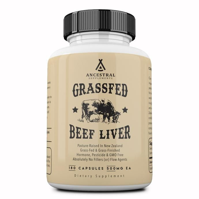 Grass Fed Desiccated Beef Liver Capsules By Ancestral Supplements Beef Liver Liver Supplements Grass Fed Beef