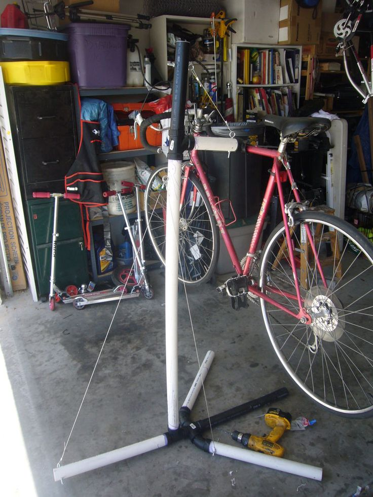 bike maintenance stand diy electic conduit - Google Search