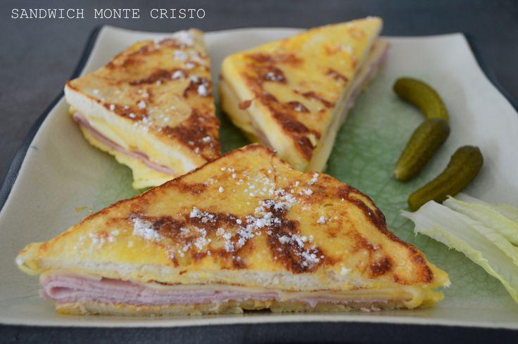 Sandwich Monte Cristo J'ai repéré ce sandwich dans un ancien magazine Saveurs dont la rubrique Voyager portait sur la mythique route 66. Malheureusement on ne trouve dans ce magazine aucune précision quant à l'origine d...
