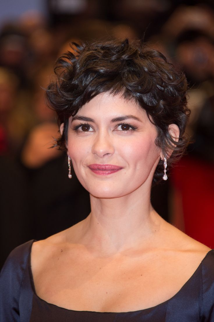 French actress Audrey Tautou wearing Josephine earrings at ...