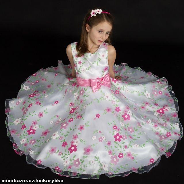 Sváteční šaty pro družičky ples oslava v 5 6let