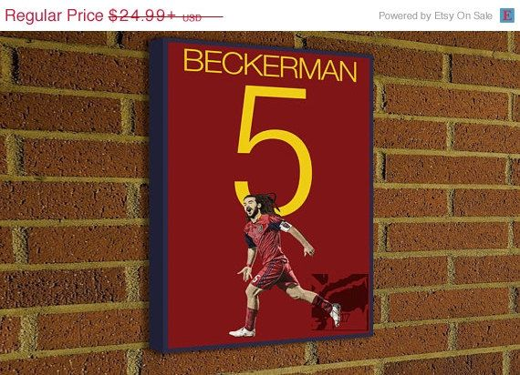Kyle Beckerman 5 Real Salt Lake #soccer #football #homedecor #g17 #futbol #decor #art #print #poster