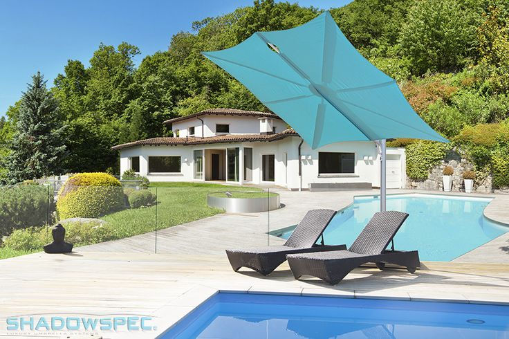 SHADOWSPEC – Global Suppliers of Luxury Outdoor Umbrella Systems Our umbrellas are ideal pool shades as they are made with marine-grade fabric that is water-resistant and able to filter almost 100% of the sun's ultraviolet rays. Click below for more information: USA – www.shadowspec.com  AUST – www.shadowspec.com.au  NZ/Other – www.shadowspec.co.nz