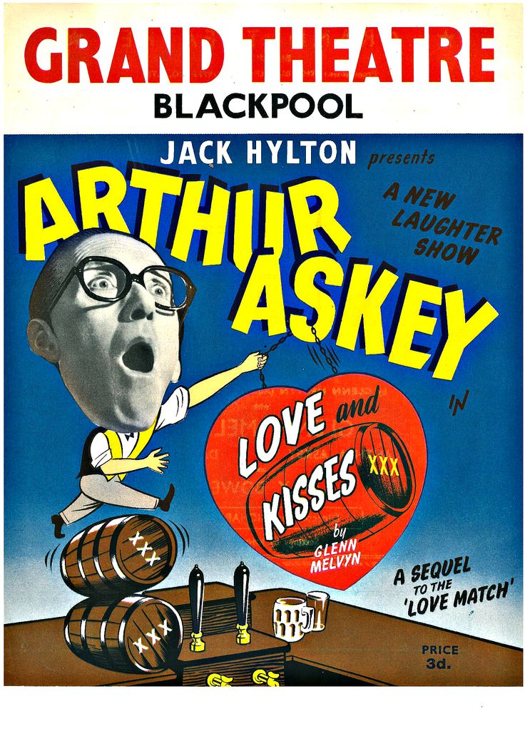 This vintage theatre programme, featuring Arthur Askey in Jack Hylton's 'Love and Kisses', 1955.