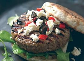 healthy turkey burger recipe  Trade up the muffin or roll and put the burger on a bed of mixed greens with Balanced Bodies' salad dressing!