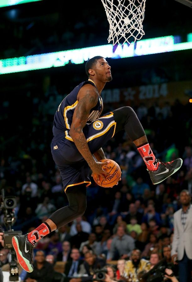 83 best paul george images on pinterest indiana pacers basketball paul george 360 between the legs dunk voltagebd Image collections