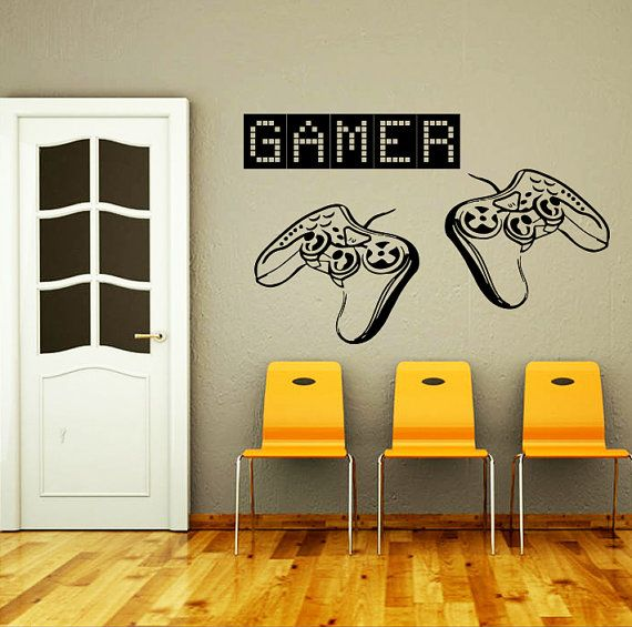 Wall Decal Vinyl Sticker Decals Art Home Decor Design Murals Game Controllers Gamer Gaming Video Game Boy Room Nursery Bedroom Dorm