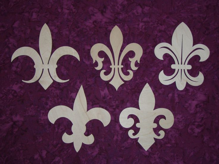 Fleur de Lis Shape Unfinished Wooden Craft Cut Outs Artistic Craft Supply | eBay