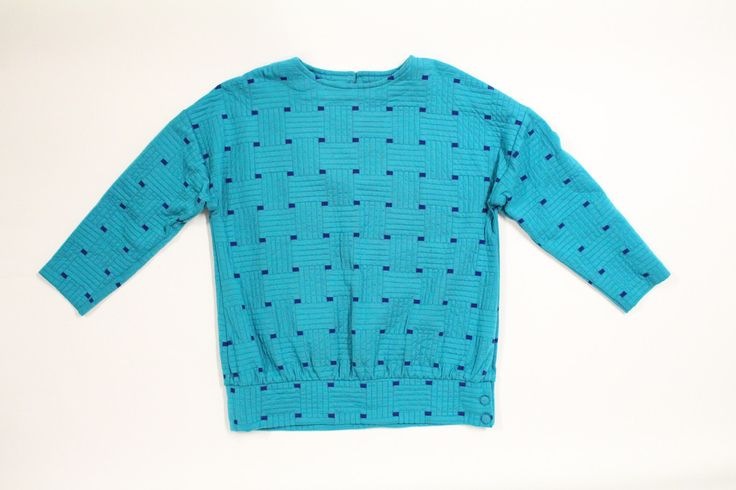 Turquoise 80's Sweater http://www.inheritedclothing.com/