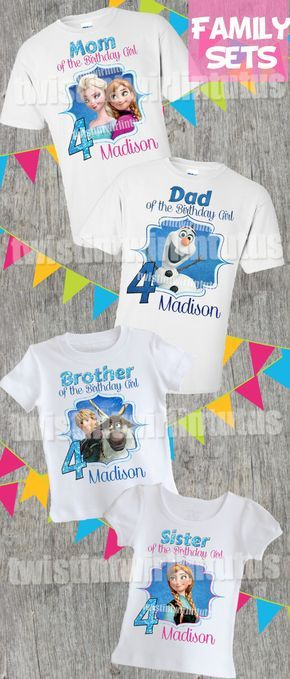 Frozen Family Birthday Shirts   Frozen Birthday Party   Frozen Party Ideas   Frozen Birthday Party Ideas   Frozen Family Shirts   Frozen Birthday Shirts   Birthday Party Ideas for Girls   Twistin Twirlin Tutus #frozenbirthday