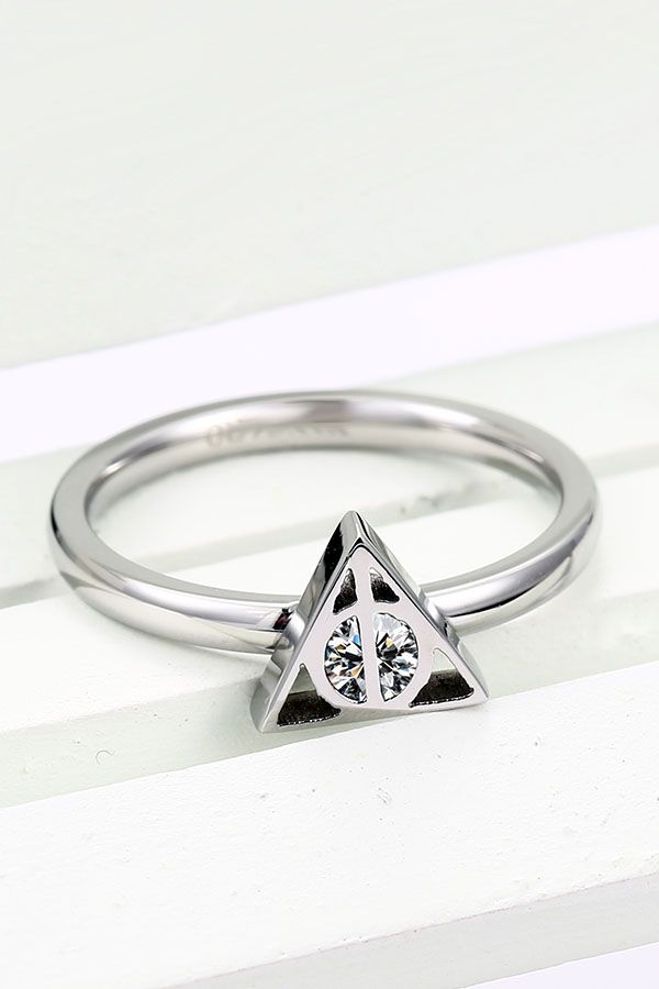 Triangle Symbol Design Hers Ring Band