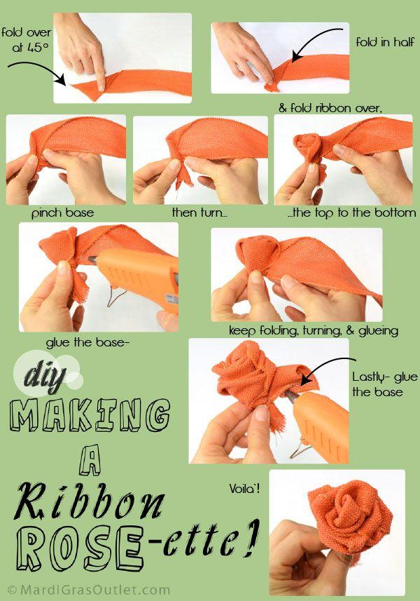 Burlap Bubble Wreath: Making a Ribbon Rosette