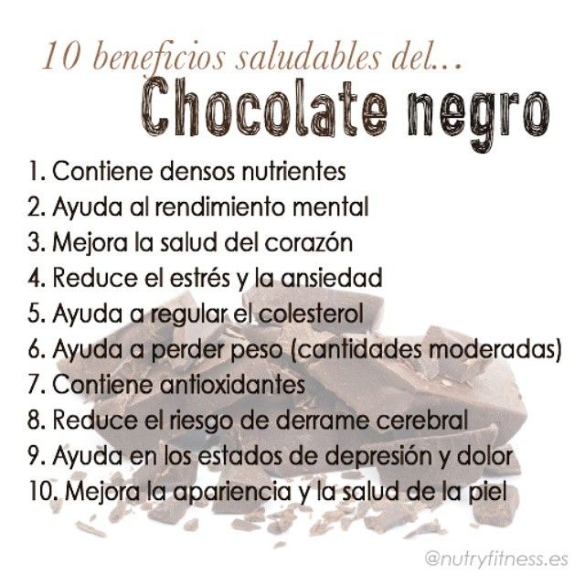 conoce los 10 beneficios saludables del chocolate negro