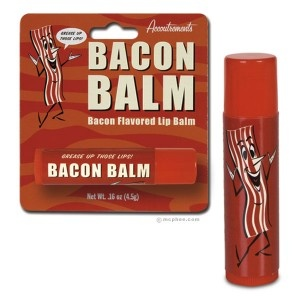 Spread a little of this chap grease across your lips before kissing your pork pie!