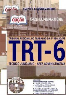concurso-publico-apostila-preparatoria-trt6-tecnico-judiciario-area-administrativa-apostila-trt-pe