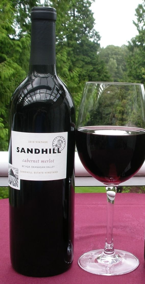 Sandhill Cabernet Merlot is a dry, medium-bodied wine with velvety tannins, good structure and moderate acidity. Flavours of ripe black and red fruits, oak, vanilla and spice fill the mouth. A lingering finish shows notes of black currant, leather, cocoa and sweet spice. Available by the glass or bottle.
