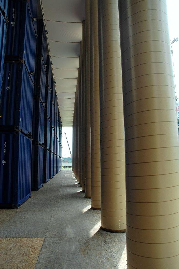 Shigeru Ban's Container Art Pavillion, 2008