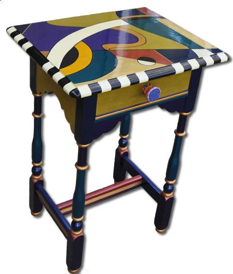 Tables   One Offs Art & One of Designs - Custom Hand Painted Furniture by Nancy Woods