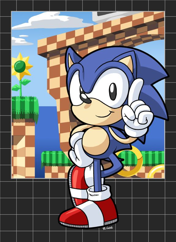 Sonic The Hedgehog 1 by rongs1234 on DeviantArt