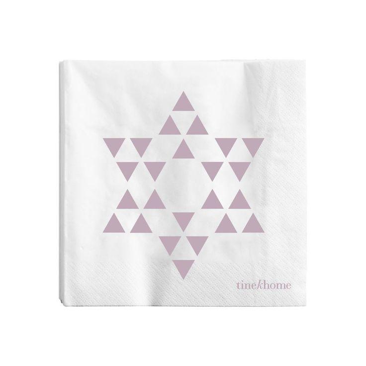 Papírové ubrousky Pink Star | Nordic Day