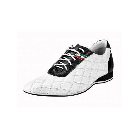 Pánske kožené športové topánky biele PT133 - manozo.hu