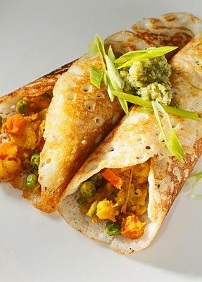 The Chubby Vegetarian: Dosa: Crispy Indian Rice Crepe