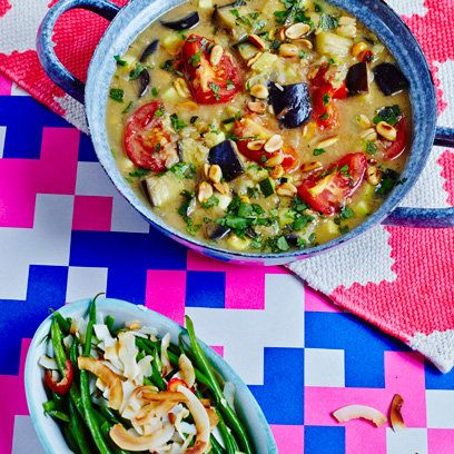 Courgette and aubergine curry from The Art Of Eating Well by Jasmine and Melissa Hemsley   Food   redonline.co.uk