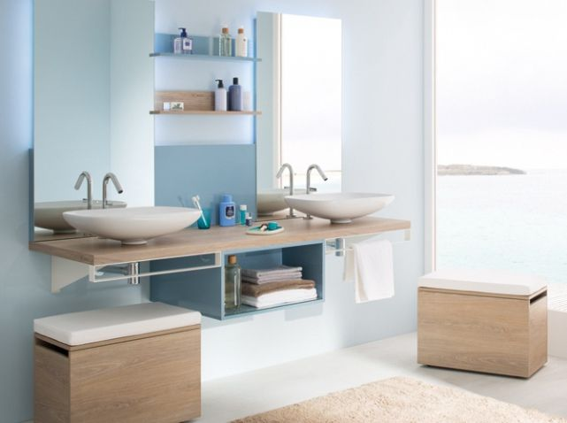 salle de bains design pur accessible aux personnes handicapes bathroom vasqueles doublesdoubles - Doubles Vasques Design