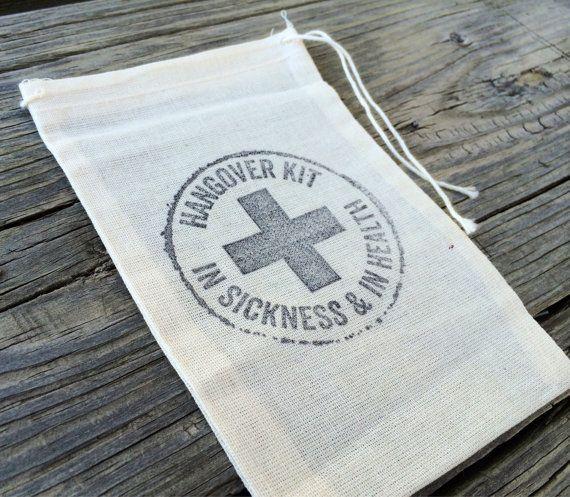 kits de 10 gueule de bois, sacs à gueule de bois, mariage Bienvenue sac faveurs, mariage kits de gueule de bois, kit de récupération, kits de survie