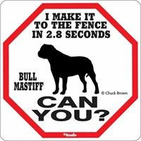 Bullmastiff 2.8 Seconds Sign: Our Bullmastiff 2.8 Seconds Sign will look great outdoors or indoors.… #PetProducts #PetGifts #AnimalJewelry