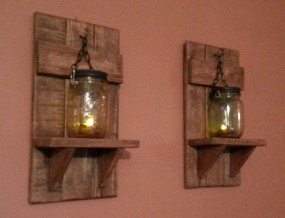 Rustikale Kerzenhalter, rustikale Wohnkultur, Einmachglas ...