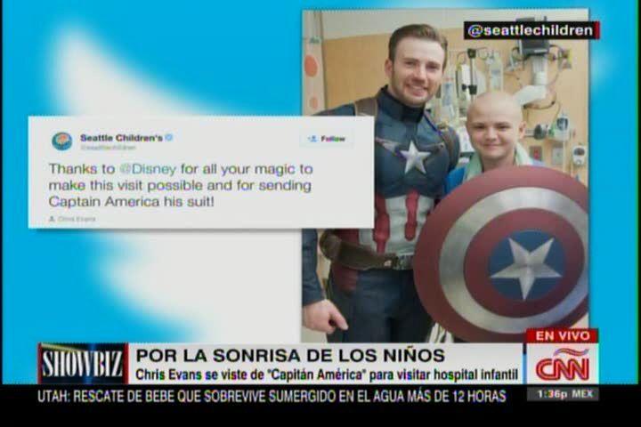 Chris Evans Se Pone Su Traje De Capitán América Para Visitar Niños En El Hospital #Video