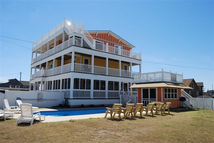 67 best obx wedding event homes images on pinterest for Beach house plans outer banks