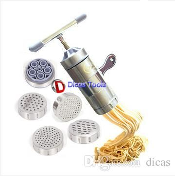 household multi function small manual noodle making machine pasta tools mini hand juicer 5 kinds of food maker dies