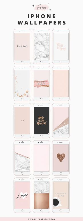 FREE iPhone Wallpaper | Blush pink, marble, rose gold, glitter and stars wallpapers and backgrounds for iPhone 7 and 7 Plus | See more at www.flipandstyle.com