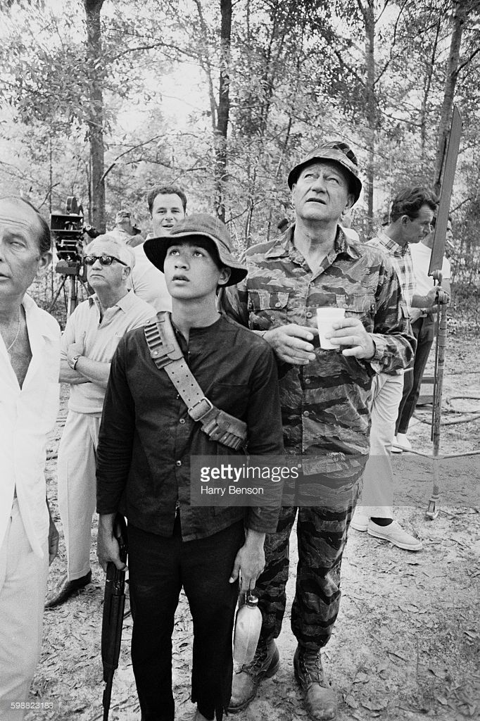 American actor John Wayne (1907 - 1979) during location filming for the Vietnam War movie 'The Green Berets', 20th October 1967.