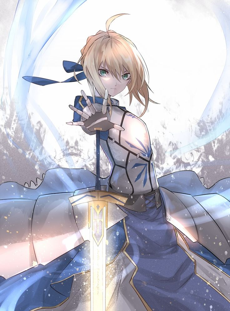 "Someone said ""Saber is bae, right?"" No. Saber is more than bae. Saber...no words can describe."
