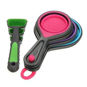 Measuring-Cups-Spoon-Tablespoon-Collapsible-Kitchen-Food-Grade-Silicone-8-Pc-Set