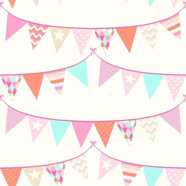 Färgglad #barntapet från kollektionen Everybody Bonjour 138718. Klicka för att se fler #inspirerande #tapeter för ditt hem!