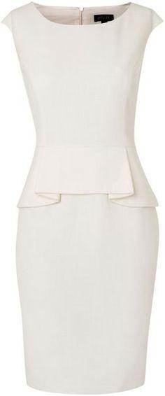Impecable, eterno..... Vestido blanco