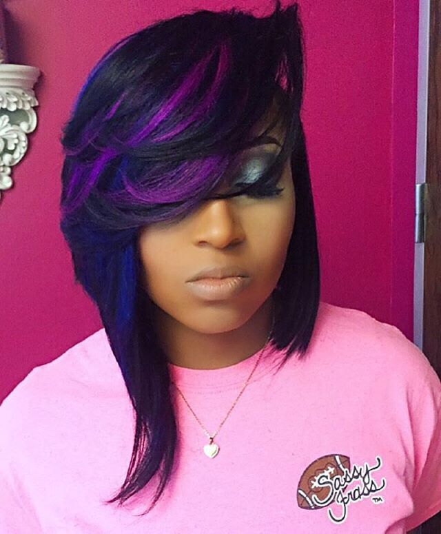 STYLIST FEATURE| This #bob styled by #HoustonStylist @TheJelliEffect is EVERYTHING Love the color and the cut✂️ #voiceofhair ✂️========================== Go to VoiceOfHair.com ========================= Find hairstyles and hair tips! =========================