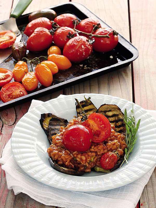 Tomato, Basil And Parmesan Risotto
