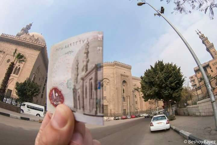(10 Egyptian pound : Al Rifai mosque) Genius Egyptian photographer collection of images that are printed on the Egyptian coins and the truth