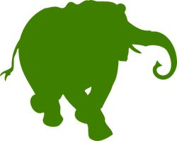 This is the logo for elephind.com, a universal online searching web service for many newspapers world-wde.