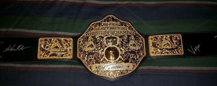 WWE WCW World Heavyweight Championship adult Replica Belt - Big Gold. Signed - http://bestsellerlist.co.uk/wwe-wcw-world-heavyweight-championship-adult-replica-belt-big-gold-signed/